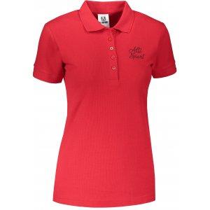 Dámské triko s límečkem ALTISPORT ALW056210 ČERVENÁ
