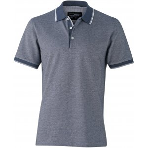 Pánské triko s límečkem trendy JAMES NICHOLSON JN704 NAVY/WHITE