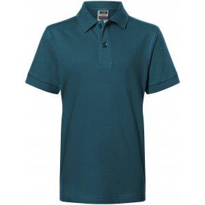 Dětské triko s límečkem premium JAMES NICHOLSON JN070K PETROL