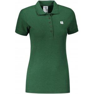 Dámské triko s límečkem ALTISPORT ALW065210 LAHVOVĚ ZELENÁ