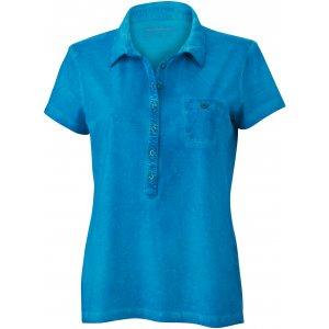Dámské triko s límečkem fashion JAMES NICHOLSON JN987 TURQUOISE