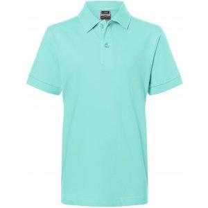 Dětské triko s límečkem premium JAMES NICHOLSON JN070K MINT