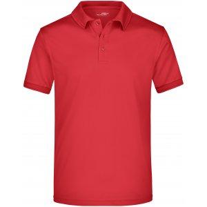 Pánské triko s límečkem funkční premium JAMES NICHOLSON JN576 RED
