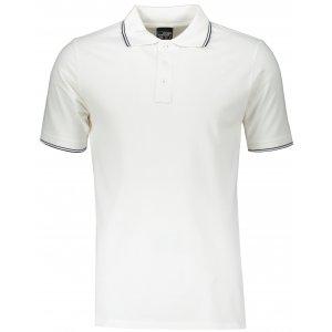 Pánské triko s límečkem JAMES NICHOLSON JN986 WHITE/NAVY