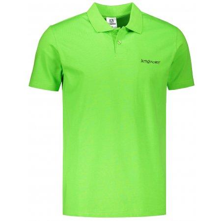 Pánské triko s límečkem ALTISPORT ALM110202 APPLE GREEN