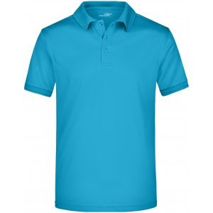 Pánské triko s límečkem funkční premium JAMES NICHOLSON JN576 TURQUOISE