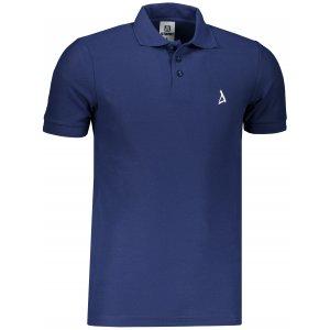 Pánské premium triko s límečkem ALTISPORT ALM002203 PŮLNOČNÍ MODRÁ