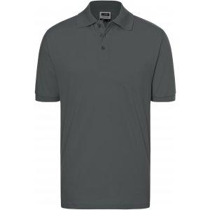 Pánské triko s límečkem premium JAMES NICHOLSON JN070 GRAPHITE