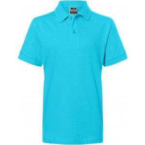 Dětské triko s límečkem premium JAMES NICHOLSON JN070K PACIFIC