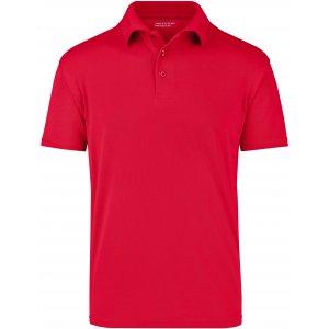 Pánské triko s límečkem funkční cooldry JAMES NICHOLSON JN024 RED