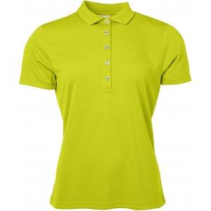 Dámské triko s límečkem funkční classic JAMES NICHOLSON JN719 ACID YELLOW