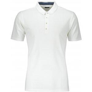 Pánské triko s límečkem fashion JAMES NICHOLSON JN712 WHITE/NAVY WHITE