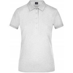 Dámské triko s límečkem elastic JAMES NICHOLSON JN709 GREY HEATHER
