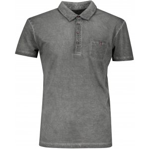 Pánské triko s límečkem fashion JAMES NICHOLSON JN988 GRAPHITE