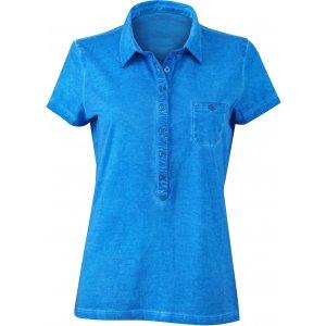 Dámské triko s límečkem fashion JAMES NICHOLSON JN987 ATLANTIC