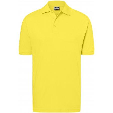 Pánské triko s límečkem premium JAMES NICHOLSON JN070 YELLOW