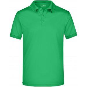 Pánské triko s límečkem funkční premium JAMES NICHOLSON JN576 GREEN