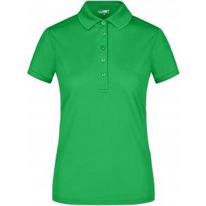 Dámské triko s límečkem funkční premium JAMES NICHOLSON JN574 GREEN