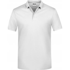 Pánské triko s límečkem classic JAMES NICHOLSON JN792 WHITE
