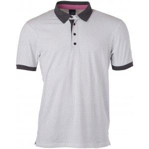 Pánské triko s límečkem JAMES NICHOLSON JN718 WHITE/TITAN