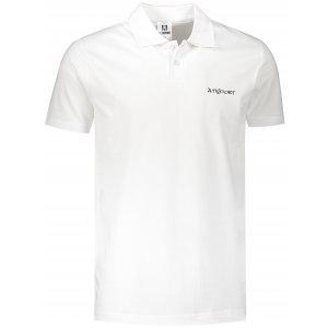 Pánské triko s límečkem ALTISPORT ALM110202 BÍLOČERNÁ