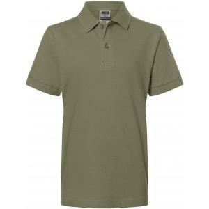 Dětské triko s límečkem premium JAMES NICHOLSON JN070K OLIVE