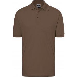 Pánské triko s límečkem premium JAMES NICHOLSON JN070 BROWN