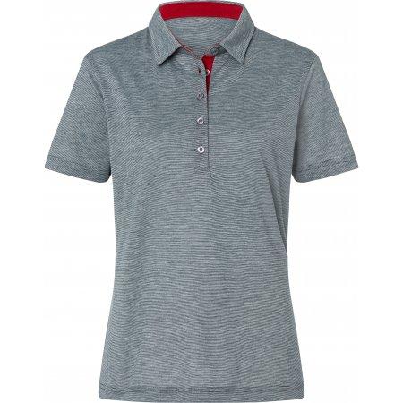 Dámské triko funkční s límečkem JAMES NICHOLSON JN753 NAVY/WHITE