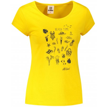 Dámské triko ALTISPORT ALW104122 ŽLUTÁ