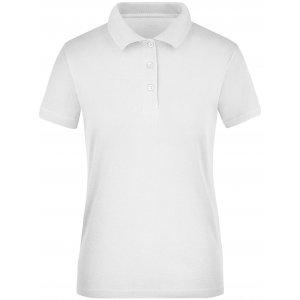 Dámské triko s límečkem funkční cooldry JAMES NICHOLSON JN197 WHITE