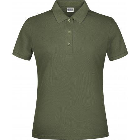 Dámské triko s límečkem classic JAMES NICHOLSON JN791 OLIVE