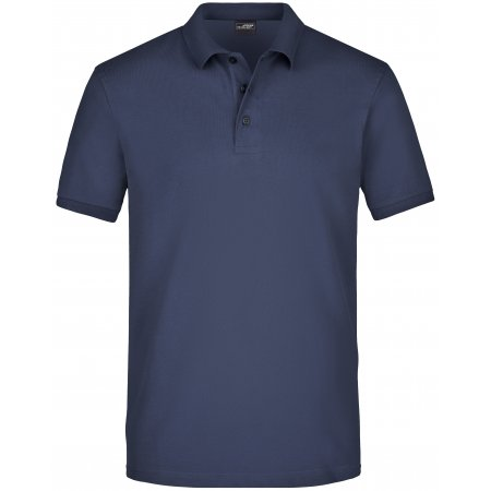 Pánské triko s límečkem elastic JAMES NICHOLSON JN710 NAVY