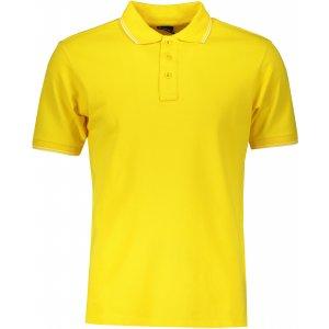 Pánské triko s límečkem JAMES NICHOLSON JN986 SUN YELLOW/WHITE