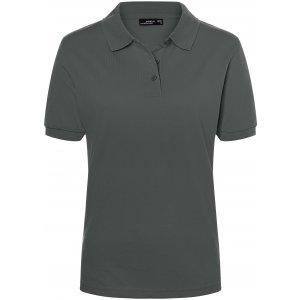 Dámské triko s límečkem premium JAMES NICHOLSON JN071 GRAPHITE