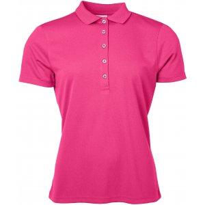 Dámské triko s límečkem funkční classic JAMES NICHOLSON JN719 PINK