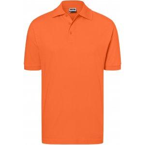Pánské triko s límečkem premium JAMES NICHOLSON JN070 DARK ORANGE