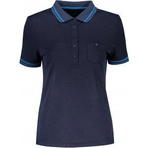 Dámské triko s límečkem funkční komfort JAMES NICHOLSON JN701 NAVY/AQUA