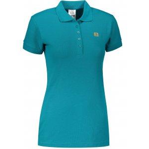 Dámské triko s límečkem ALTISPORT ALW065210 TMAVÝ TYRKYS