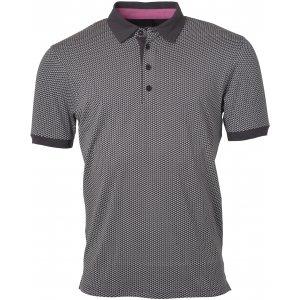 Pánské triko s límečkem JAMES NICHOLSON JN718 TITAN/WHITE