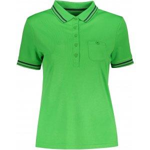 Dámské triko s límečkem funkční komfort JAMES NICHOLSON JN701 GREEN/CARBON