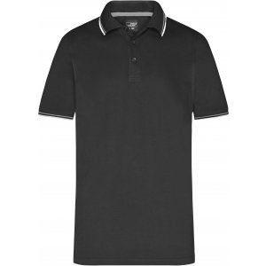 Pánské triko s límečkem fashion JAMES NICHOLSON JN966 BLACK/WHITE/GREY