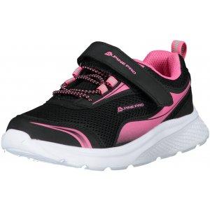 Dětské boty ALPINE PRO LENIE KBTT284 ČERNÁ/RŮŽOVÁ