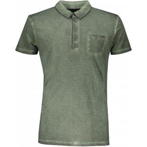Pánské triko s límečkem fashion JAMES NICHOLSON JN988 DUSTY OLIVE