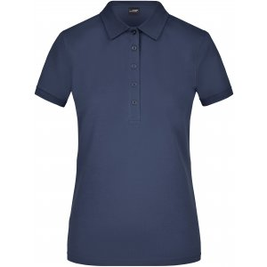 Dámské triko s límečkem elastic JAMES NICHOLSON JN709 NAVY