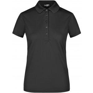 Dámské triko s límečkem funkční premium JAMES NICHOLSON JN574 BLACK