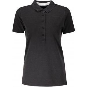 Dámské triko s límečkem fashion JAMES NICHOLSON JN711 BLACK/WHITE TITAN