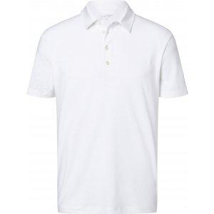 Pánské triko s límečkem žíhané JAMES NICHOLSON JN752 WHITE