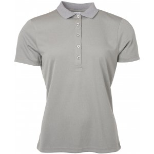 Dámské triko s límečkem funkční classic JAMES NICHOLSON JN719 LIGHT MELANGE
