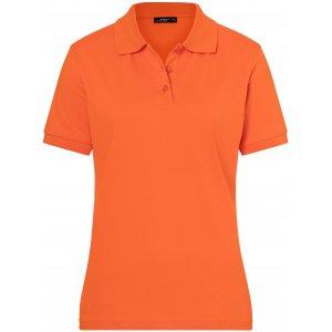 Dámské triko s límečkem premium JAMES NICHOLSON JN071 DARK ORANGE