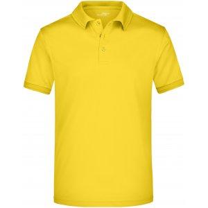 Pánské triko s límečkem funkční premium JAMES NICHOLSON JN576 SUN YELLOW